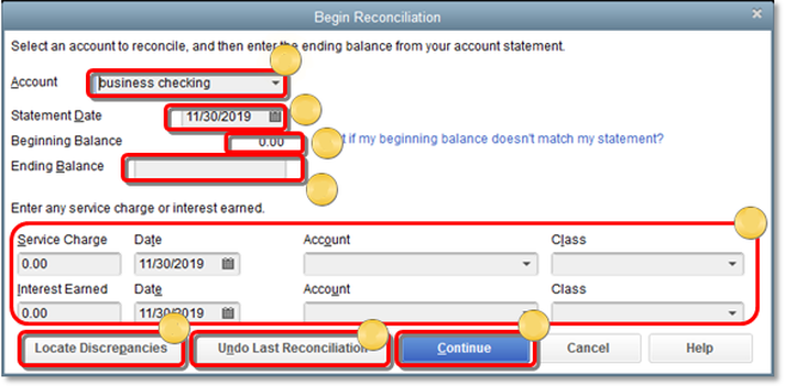 Reconcile Bank in QuickBooks