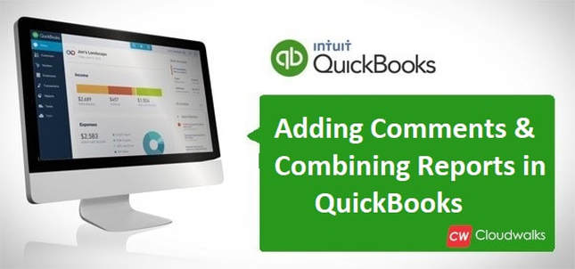 Adding comments in QuickBooks
